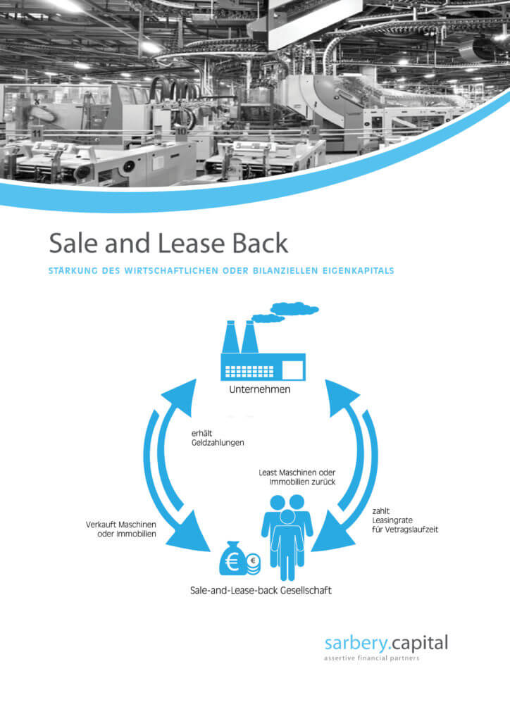 Sale and lease back als alternatives Finanzierungsinstrument
